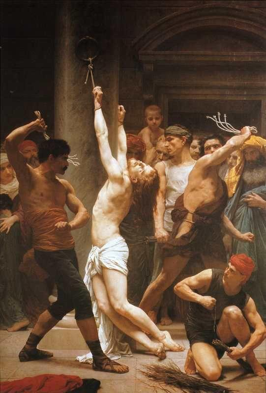 William-Adolphe Bouguereau. The Flagellation of Christ.