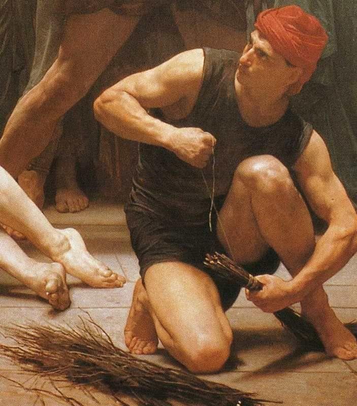 William-Adolphe Bouguereau. The Flagellation of Christ. Detail.