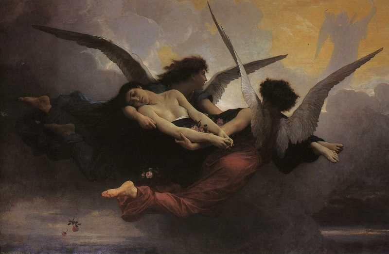 William-Adolphe Bouguereau. A Soul Brought to Heaven.