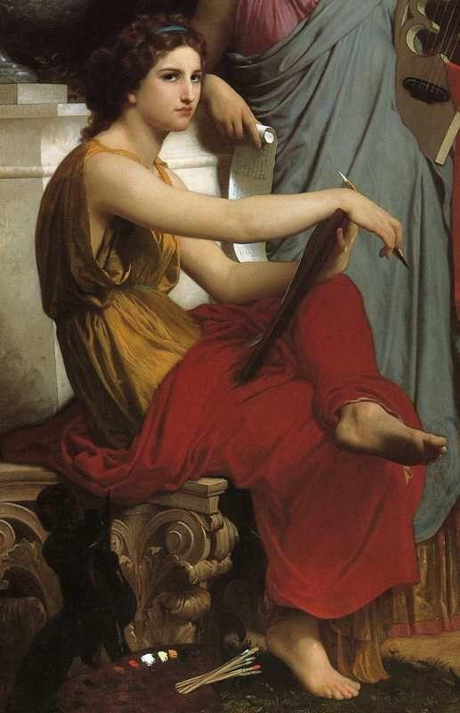 William-Adolphe Bouguereau. Art and Literature. Detail.