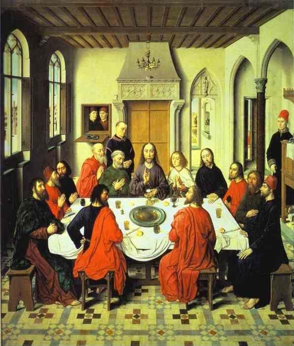 Dieric Bouts the Elder. Last Supper (central section of an ...