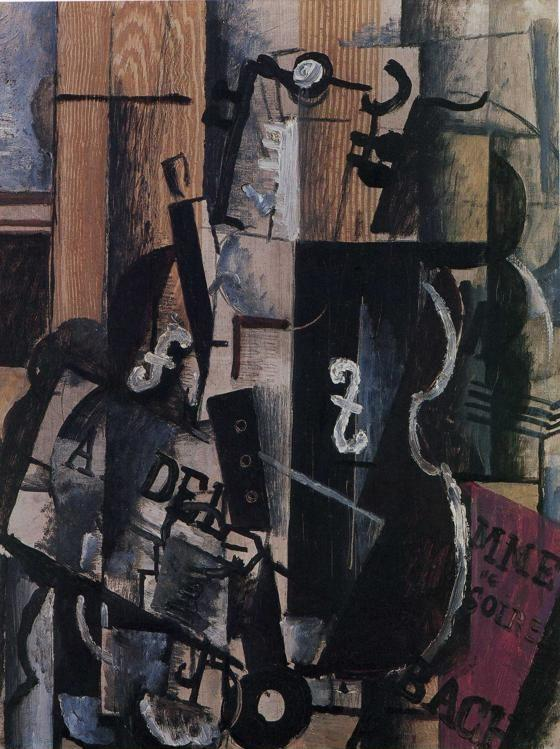Georges Braque. Violin and Clarinet on a Table.