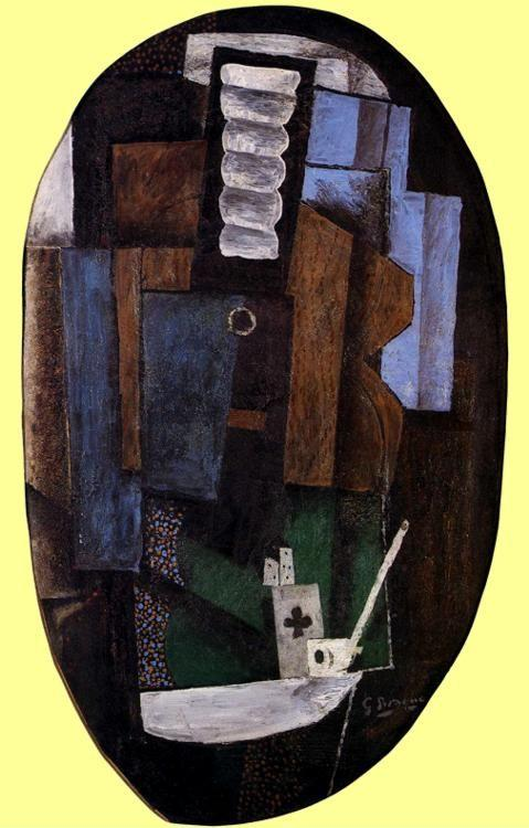 Georges Braque. Still-Life with a Guitar on a Table.