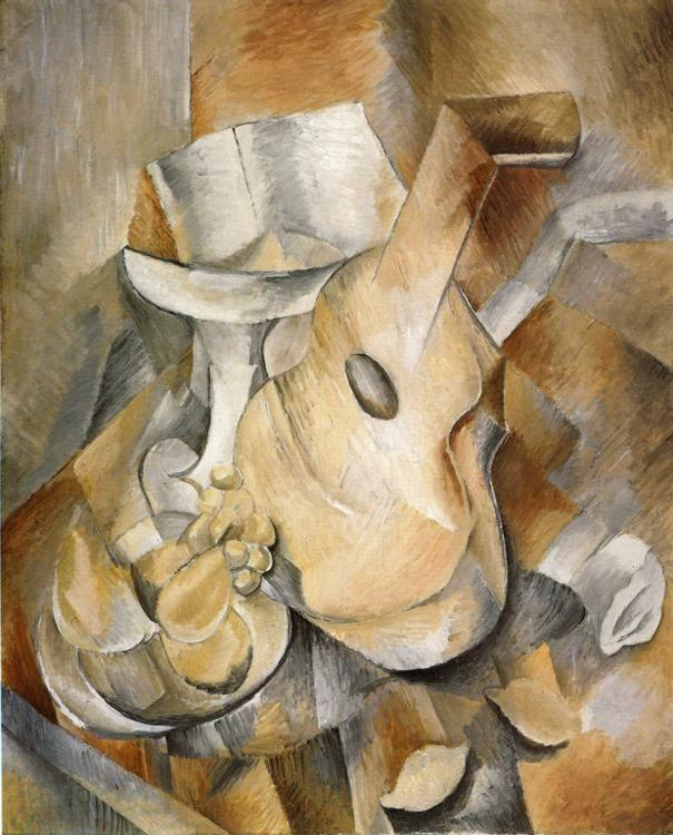 Georges Braque. Guitar and Fruit Dish.