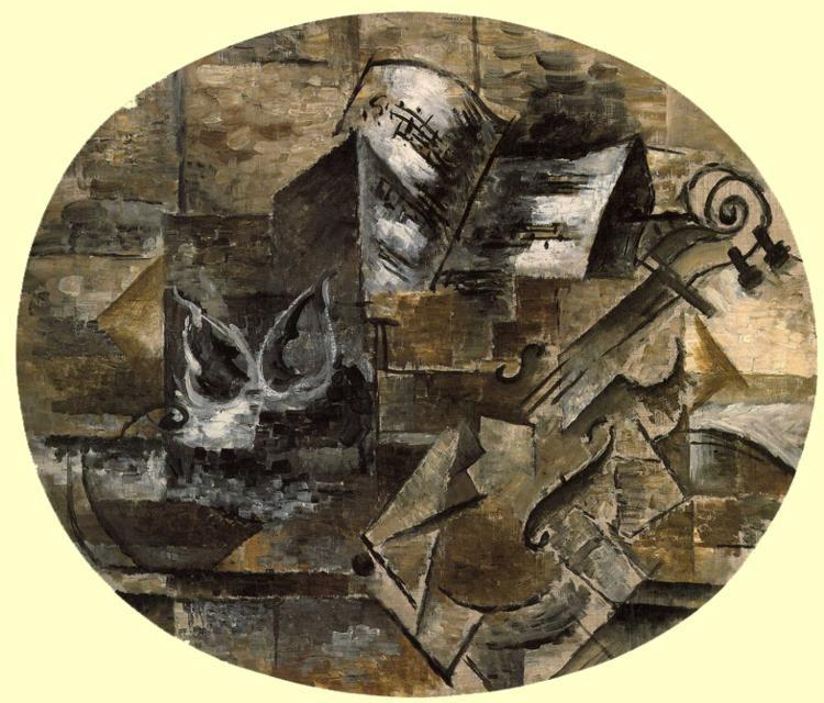 Georges Braque. Violin and Musical Score.