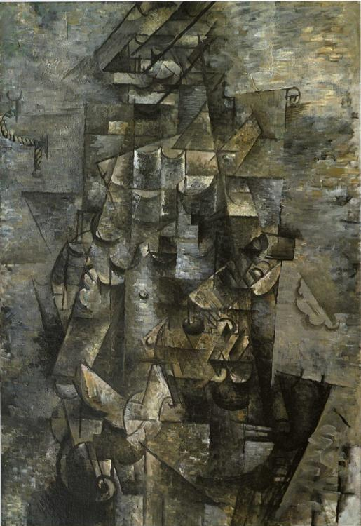Georges Braque. Man with a Guitar.