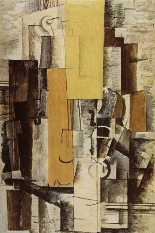 Georges Braque. Violin and Glass.