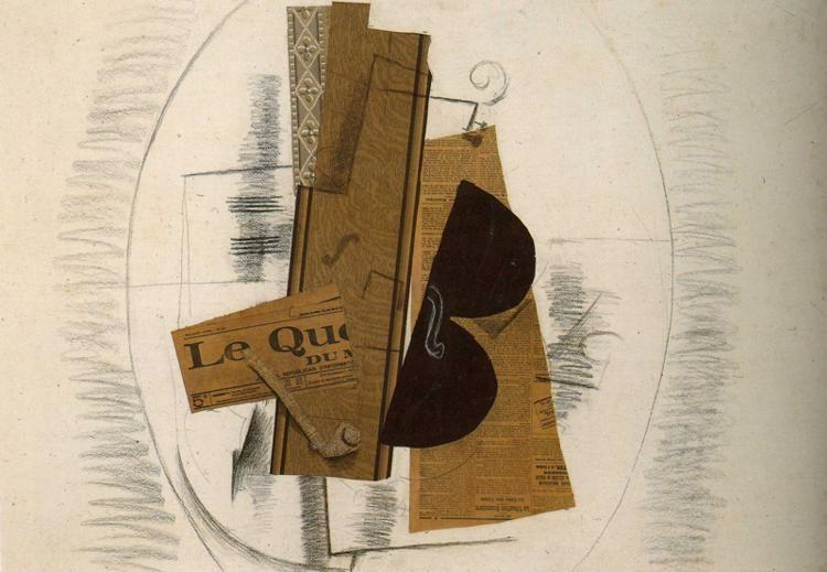 "Georges Braque. Violin and Pipe: ""Le Quotidien""."