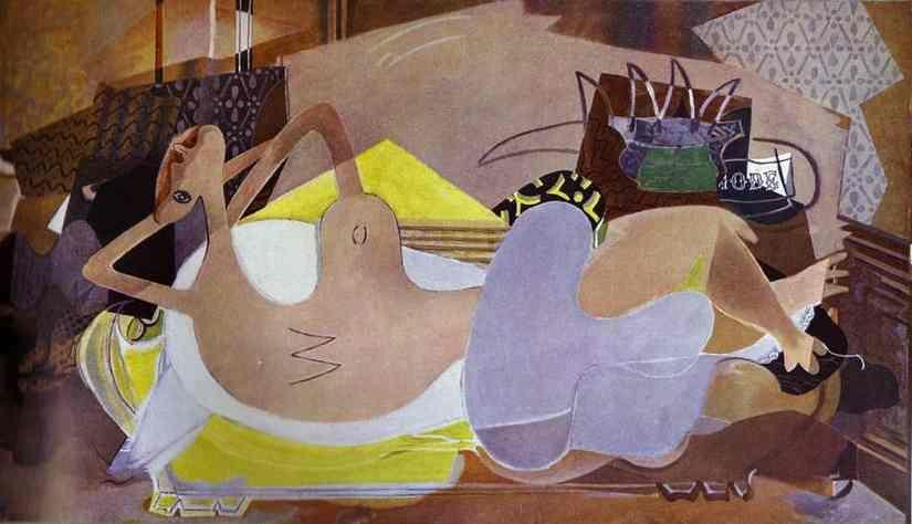 Georges Braque. Lying Nude (The Bather IX).
