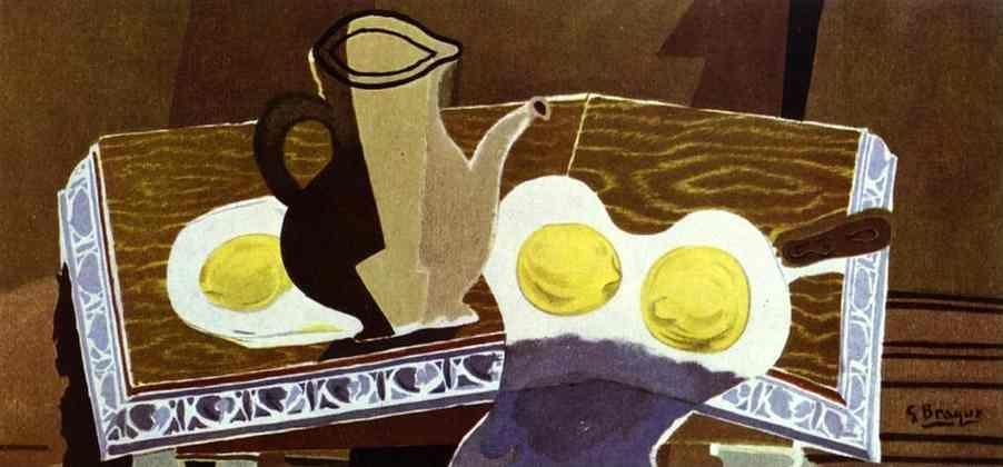 Georges Braque. Pitchet, verre et citrons.
