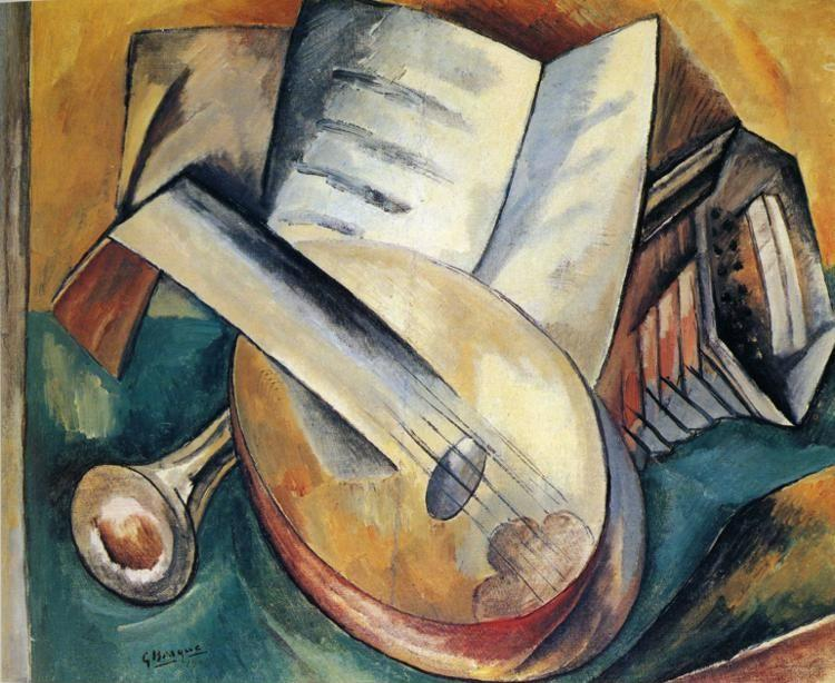 Georges Braque. Still Life with Musical Instruments.