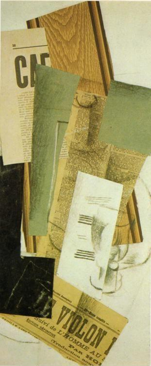 Georges Braque. Bottle and Glass (Le Violan).