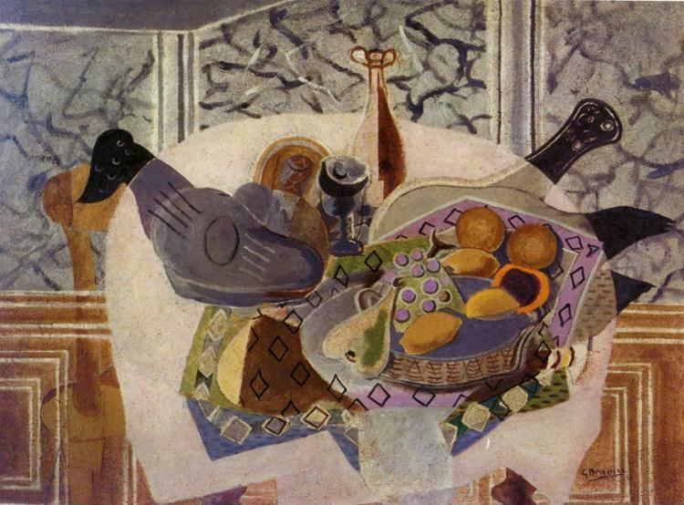 Georges Braque. The Purple Tablecloth.