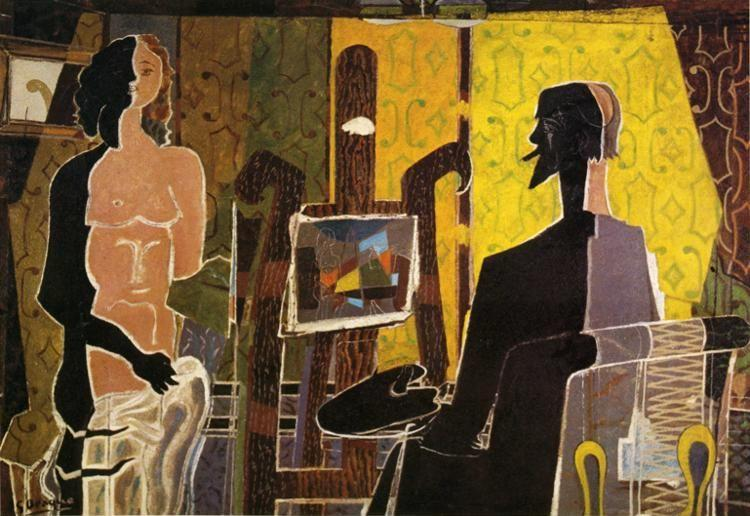 Georges Braque. The Painter and His Model.
