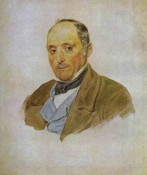 Karl Brulloff. Portrait of a Man from the Tittoni's family.