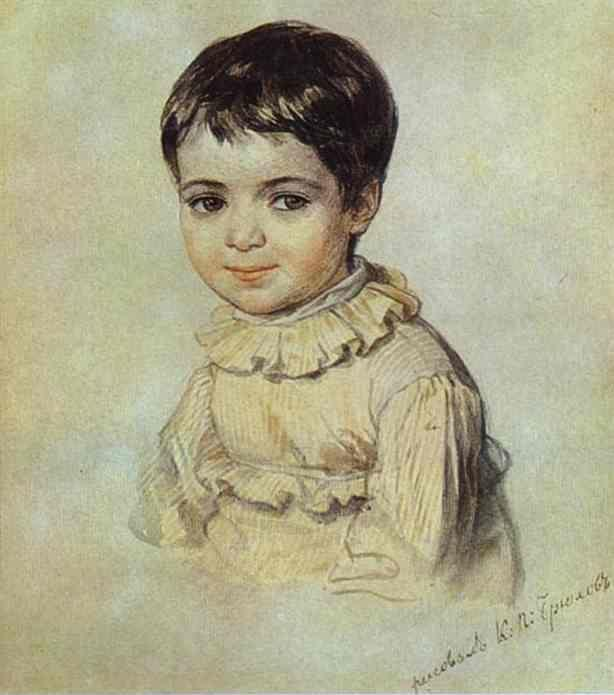 Karl Brulloff. Portrait of Maria Kikina as a Child.