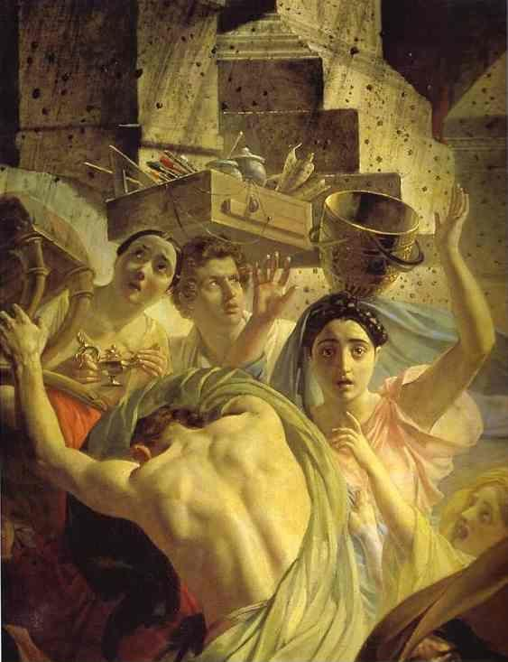 Karl Brulloff. The Last Day of Pompeii. Detail.