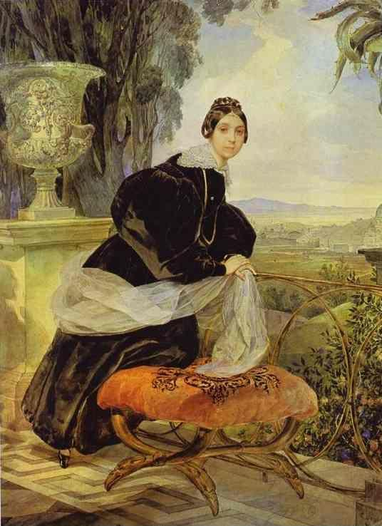 Karl Brulloff. Portrait of Princess Ye. P. Saltykova.