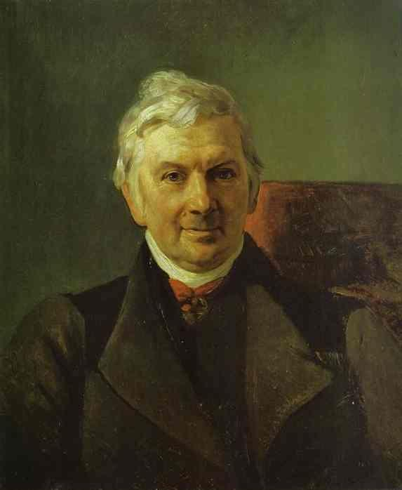 Karl Brulloff. Portrait of the Professor of the Moscow Medical Academy K. A. Janish.