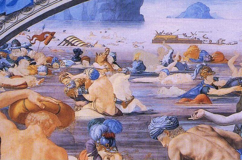 Agnolo Bronzino. The Passage of the Red Sea and Moses Appointing Joshua. Detail.