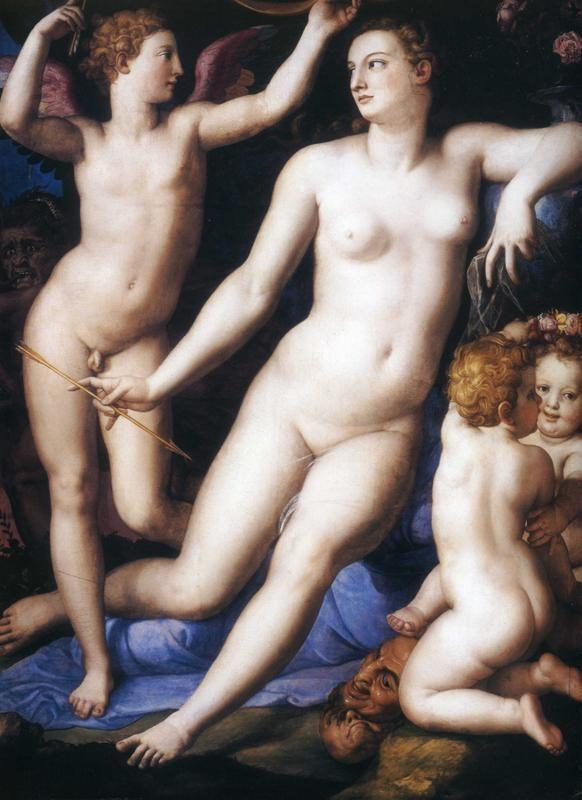 Agnolo Bronzino. Venus and Cupid with Two Amoretti and Jealousy.