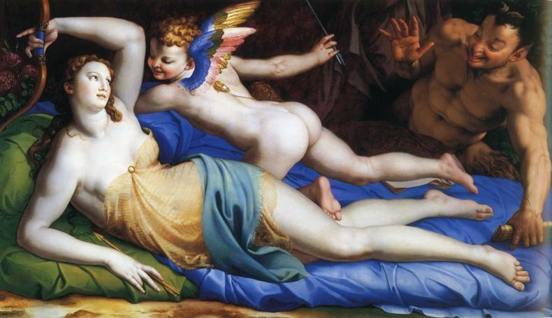 Agnolo Bronzino. Venus and Cupid with a Satyr.