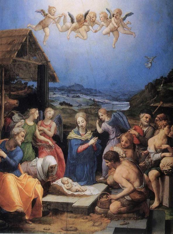Agnolo Bronzino. Adoration of the Shepherds.
