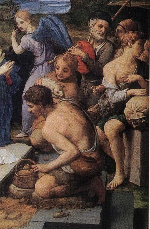 Agnolo Bronzino. Adoration of the Shepherds. Detail.