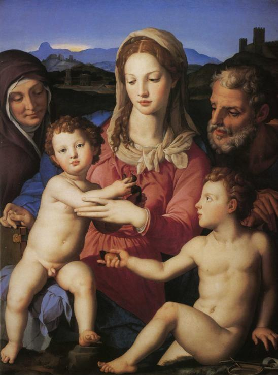 Agnolo Bronzino. The Madonna and Child with St.Elisabeth and the Infant St. John the Baptist.