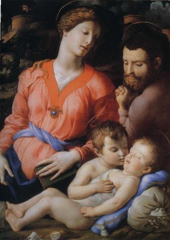 Agnolo Bronzino. The Madonna and Child with the Infant St.John the Baptist, known as The Panciatichi Madonna.