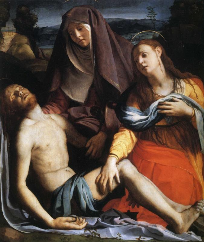 Agnolo Bronzino. Pieta with Mary Magdalene.