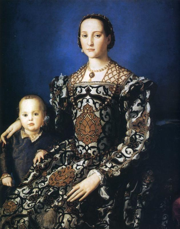 Agnolo Bronzino. Portrait of Eleonora of Toledo with Her Son Giovanni.
