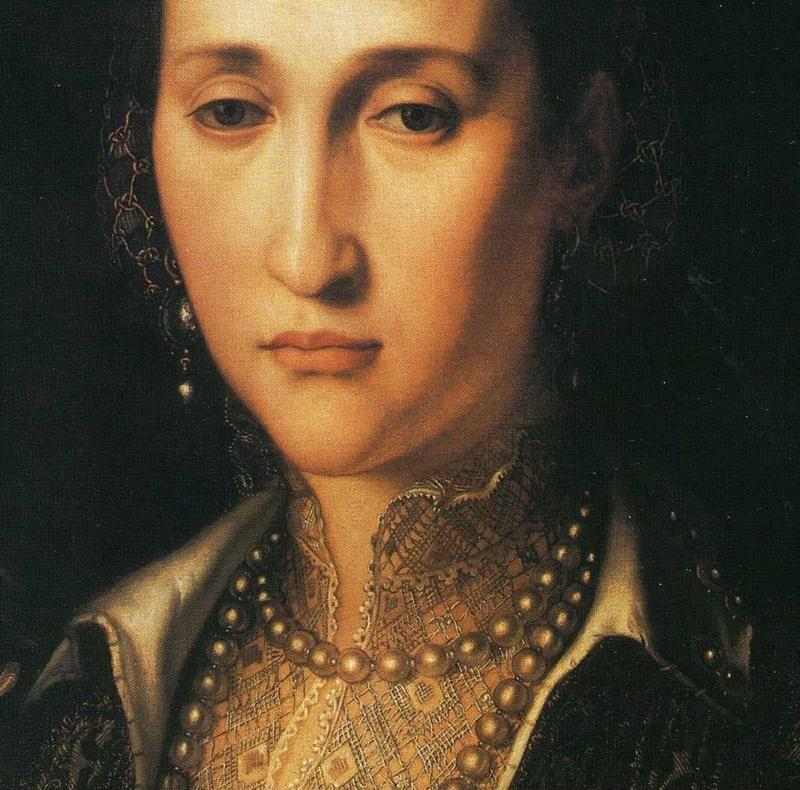 Agnolo Bronzino. Portrait of Eleonora of Toledo as an Old Woman. Detail.