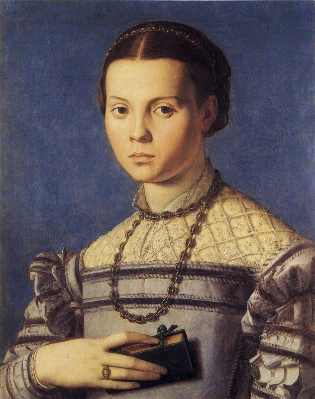 Agnolo Bronzino. Portrait of Girl with a Prayer Book.