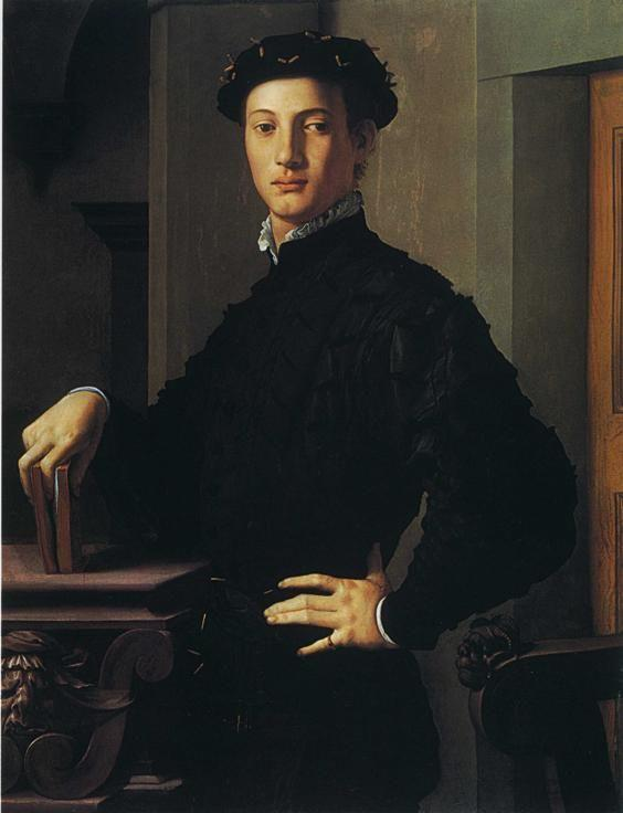 Agnolo Bronzino. Portrait of a Young Man with a Book.