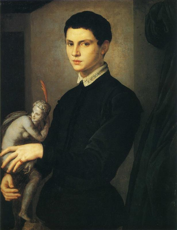 Agnolo Bronzino. Portrait of Young Sculptor (sometimes known as The Amateur of Sculpture).