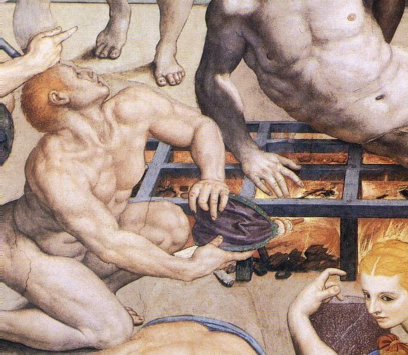 Agnolo Bronzino. Martyrdom of St. Lawrence. Detail.
