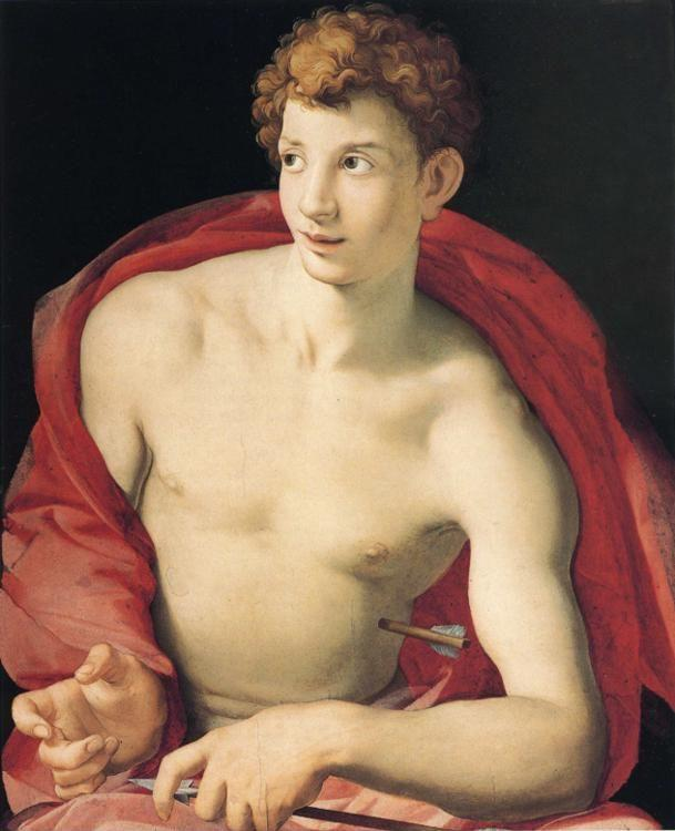 Agnolo Bronzino. Portrait of Young Man as Saint Sebastian.