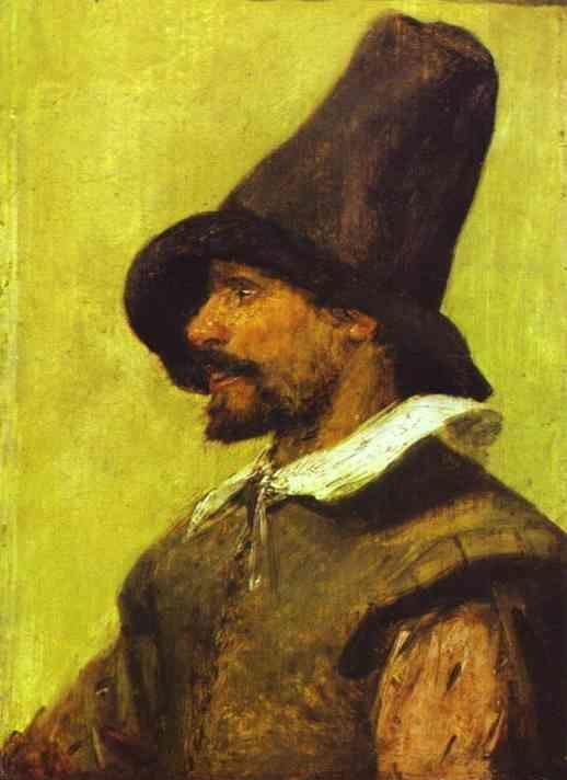 Adriaen Brouwer. Portrait of a Man with a Pointed Hat.