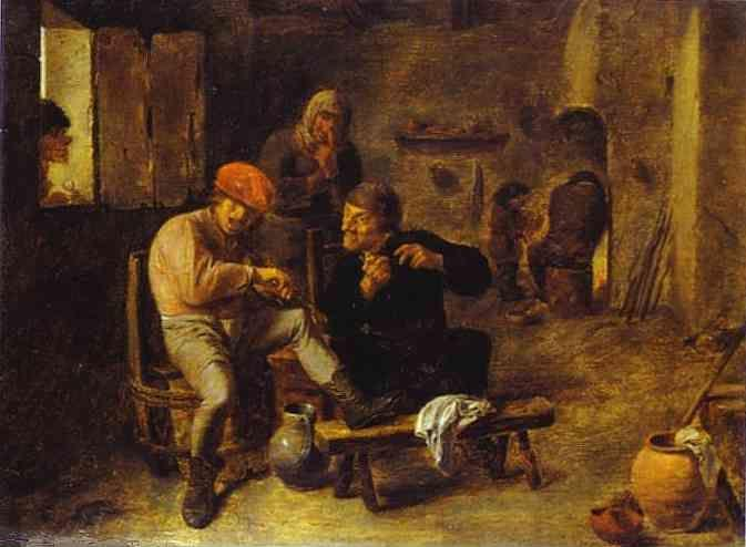 Adriaen Brouwer. In the Tavern.