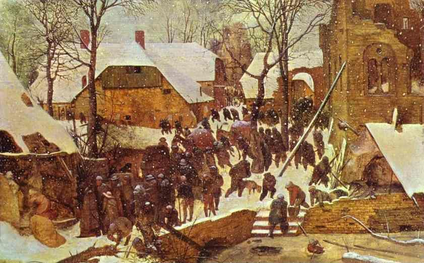 Pieter Bruegel the Elder. Adoration of the Magi in Winter Landscape.