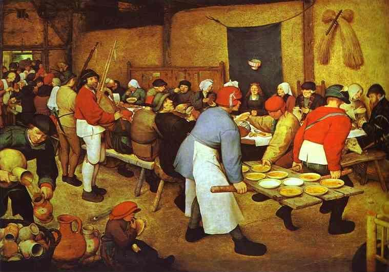 Pieter Bruegel the Elder. The Peasant Wedding.