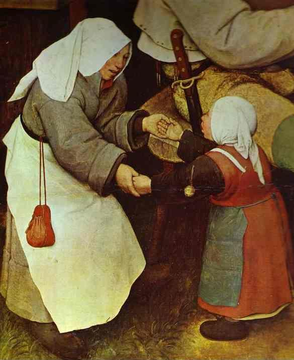 Pieter Bruegel the Elder. The Peasant Dance. Detail.