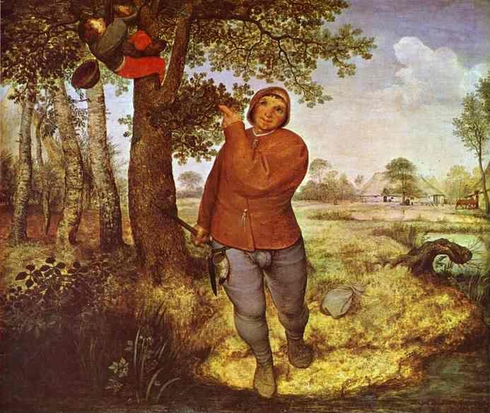 Pieter Bruegel the Elder. The Peasant and the Birdnester.