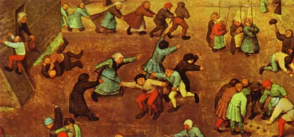 Pieter Bruegel the Elder. Children's Games. Detail.