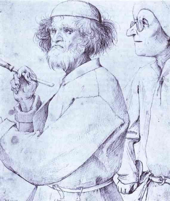 Pieter Bruegel the Elder. The Painter and the Connoisseur.