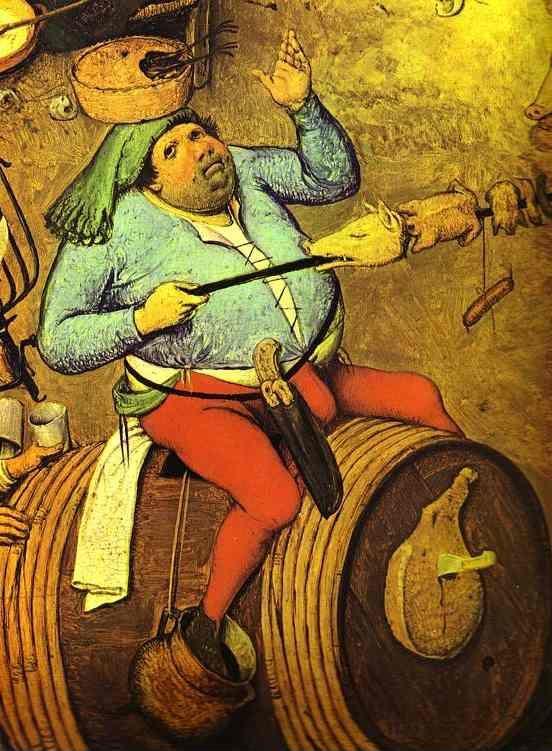 Pieter Bruegel the Elder. The Fight between Carnival and Lent. Detail.