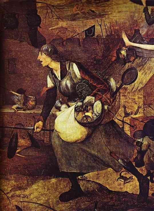 Pieter Bruegel the Elder. 'Dulle Griet' (Mad Meg). Detail.