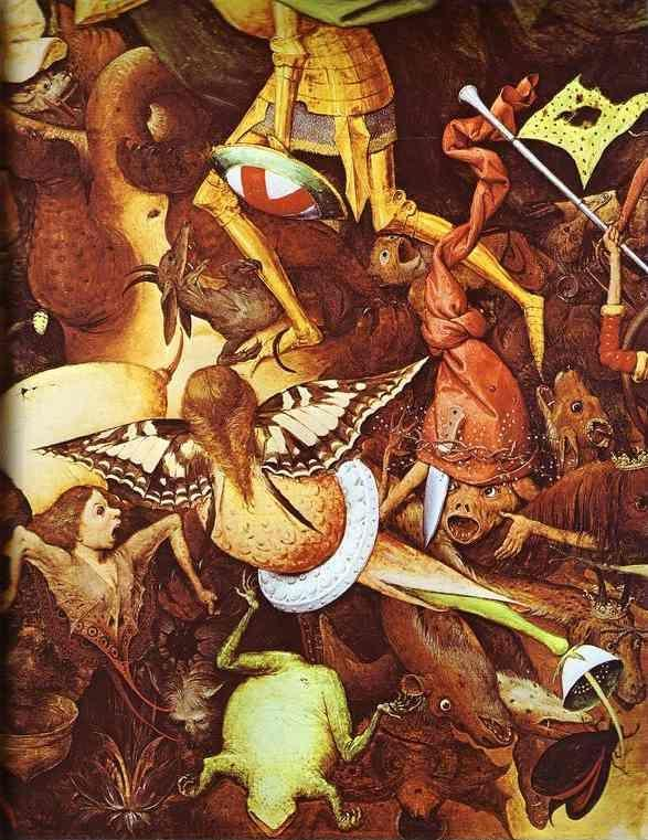 Pieter Bruegel the Elder. The Fall of the Rebel Angels. Detail.