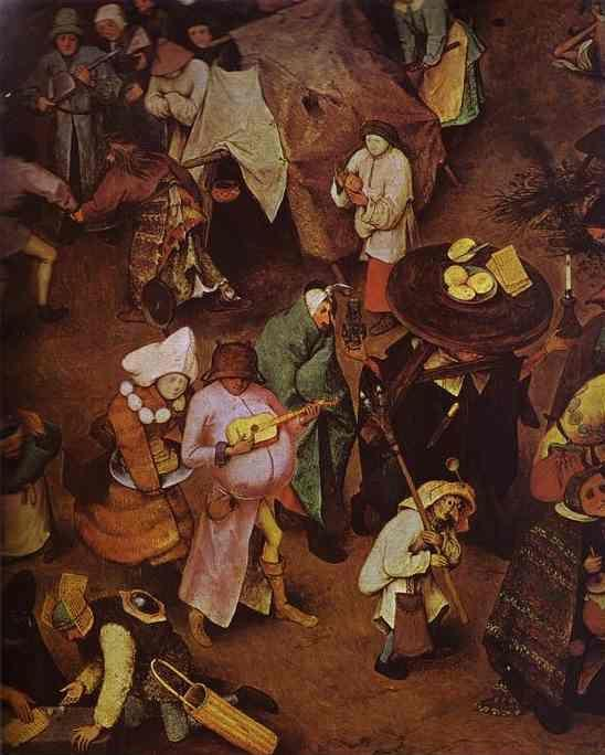 Pieter Bruegel the Elder. The Fight between Carnival and Lent. Detail.